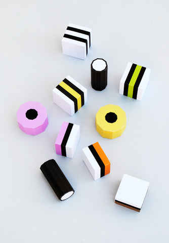 paper liquorice set free printable foldable art for kids