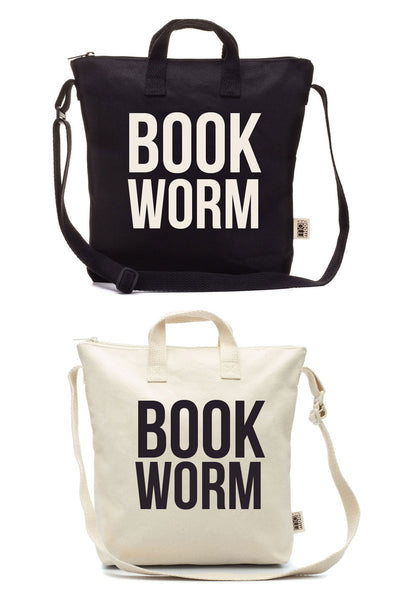 Blank Canvas Zipper Tote Bag DIY Black Natural
