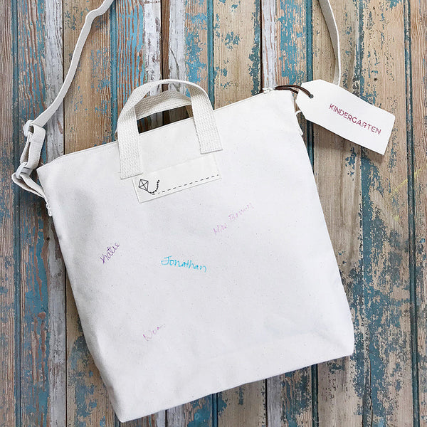 Blank Canvas Tote Kindergarten Tote Bag DIY Modern Keepsake