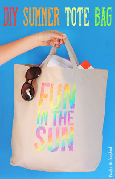 91cc0dc2b Fun in the Sun DIY Summer Tote with Pens and Stencil. 42. Rainbow are ...