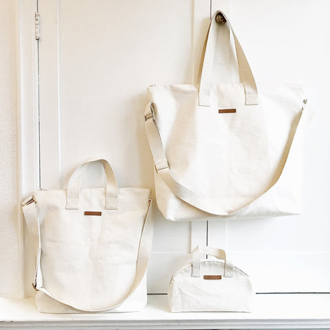 Natural Cotton Canvas Totes Crossbody Zipper DIY Blanks
