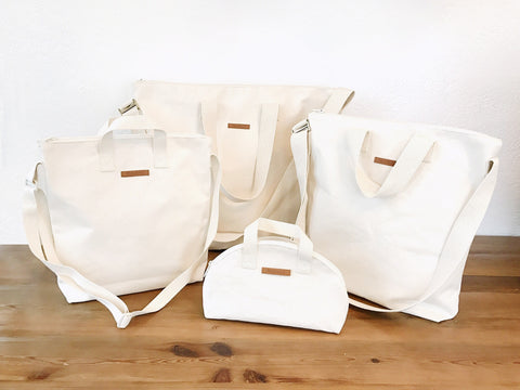 Expanding our line of Blank Canvas Totes Zipper Crossbody