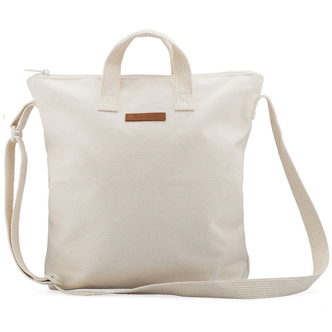 Small Blank Canvas Zipper Tote Unlined