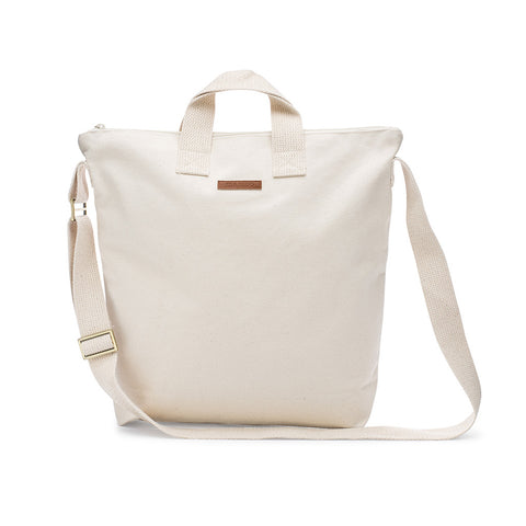 Blank Canvas Zipper Tote Bag
