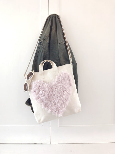 DIY Heart Tote Bag Applique