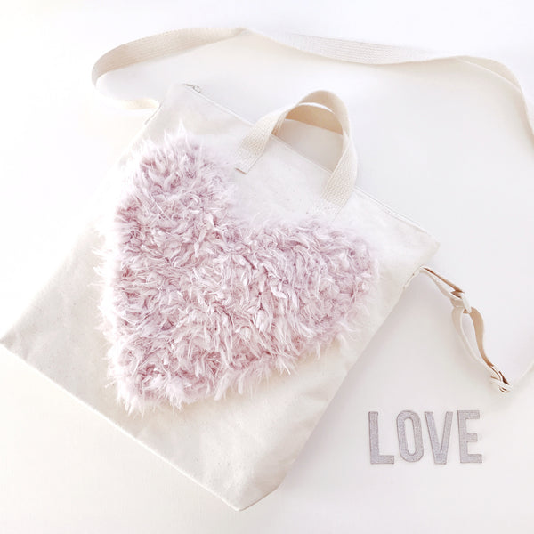 DIY Heart Tote Design Easy Sewing Project for Kids