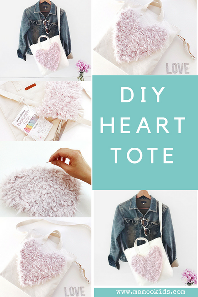 DIY Heart Tote Upcycled