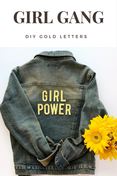 Metallic Gold Letters DIY on Denim