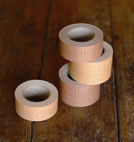 Kraft Paper Washi Tape for Nature Journals Grid Print