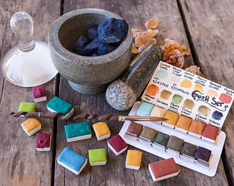 Natural Earth Pigment Watercolor Set