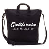Custom City Coordinate Canvas Tote in Black