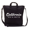 California city coordinates diy blank black canvas tote bag