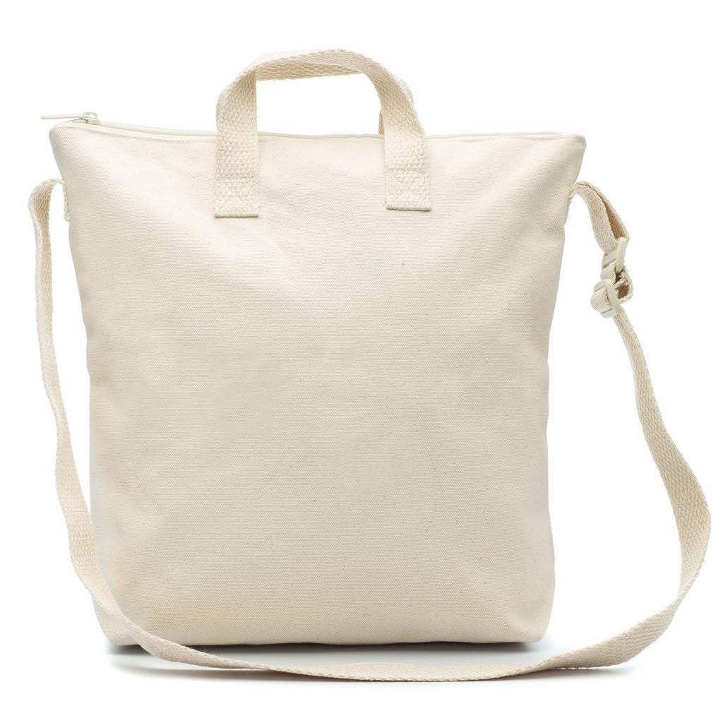 Limited Edition Blank Artist NATURAL Canvas Zipper Tote Bag Long Strap -  mamookids - 1 7f3bc7450e907