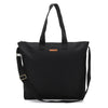 Natural 100% Cotton Blank Black Canvas Oversized Zipper Tote Shopping Bag