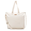 Natural 100% Cotton Blank Canvas Oversized Zipper Tote Shopping Bag
