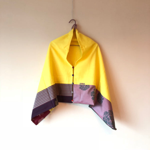 <RS18A01-002> KIMONO Pach-worked Scarf
