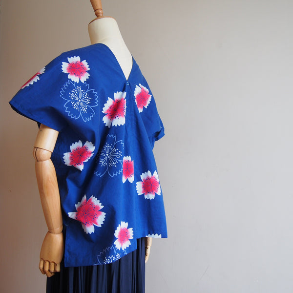 <RS17T08-011> OKINAWA Top -Blue