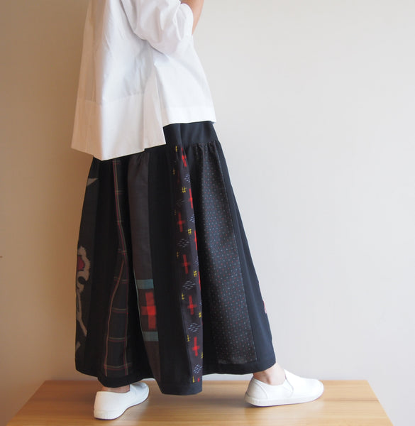 <RS17S14-002> Patch-worked Skirt -LONG
