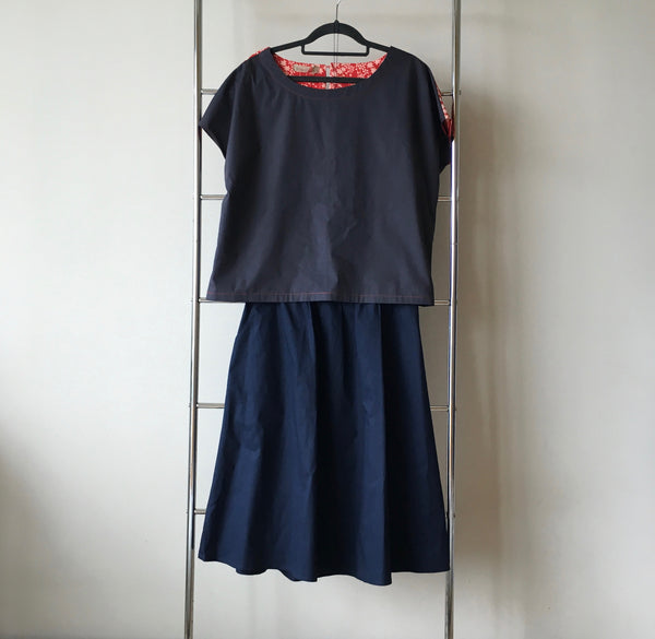 <RS15B01-002> Simple Skirt Navy