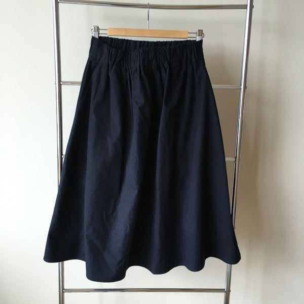 <RS15B01-001> Simple Skirt Navy