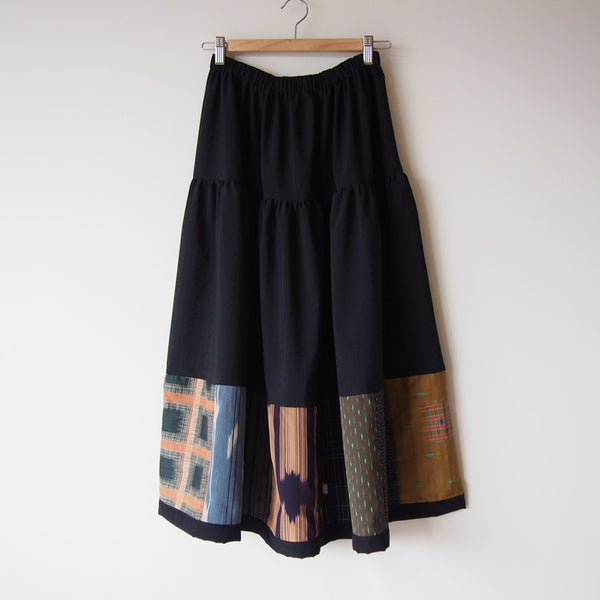 <RS13S05-010> PATCHWORKED SKIRT LONG