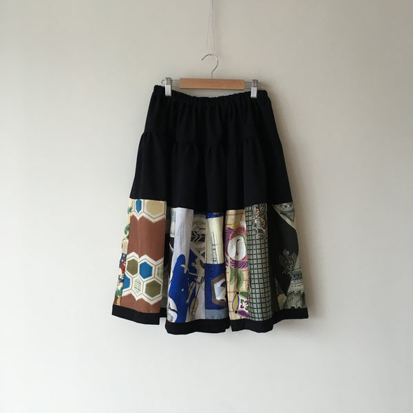 <RS13S04-001> PATCHWORKED SKIRT -SHORT