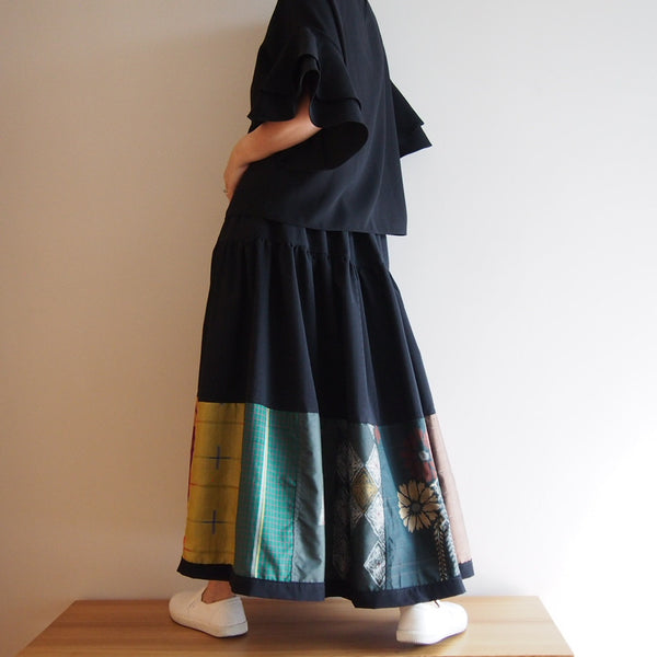 <RS13S05-019> Patchworked Skirt -LONG