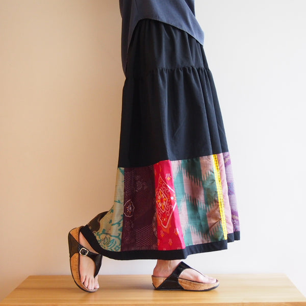 <RS13S05-017> Patch-worked Skirt -LONG