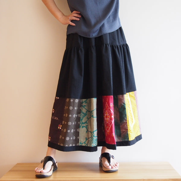 <aRS13S05-017> Patch-worked Skirt -LONG