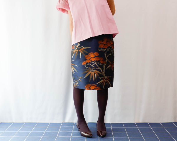 <RS19S30BO> KABUKI BROWN  tight skirt