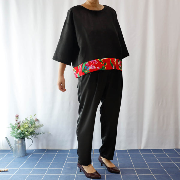 <RS14T01-026>  KIMONO Top AUDREY  -S to M- Hong Kong Special