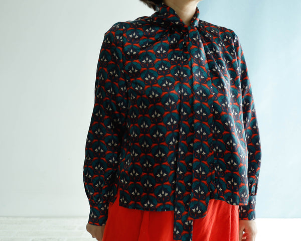 <RS20T18S> PSYCHEDELICISH PRINT Blouse