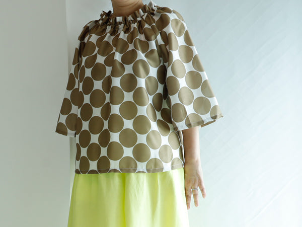 <RS21T25D>  FRILL COLLAR Top