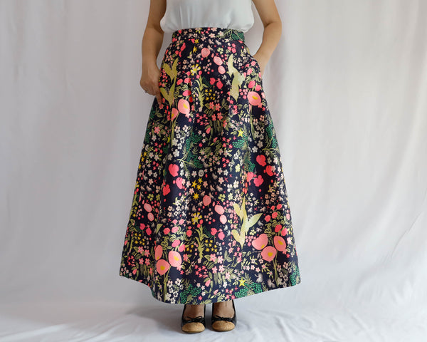 <RS20S17A90> CRAZY WOVEN Skirt  -Length 90cm