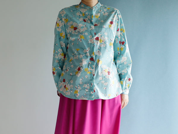 <RS21T19U> Japanese Paint inspired  PRINT Blouse