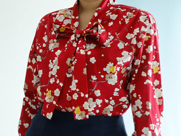 <RS20T18U> JapanesePaint inspired  PRINT Blouse