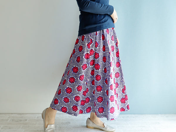 <RS21S34-000>  AFRICAN PRINT Skirt