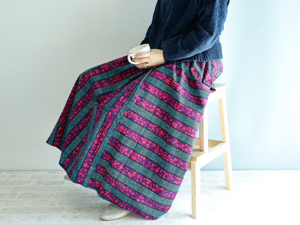 <RS21S33-001>  AFRICAN PRINT Skirt