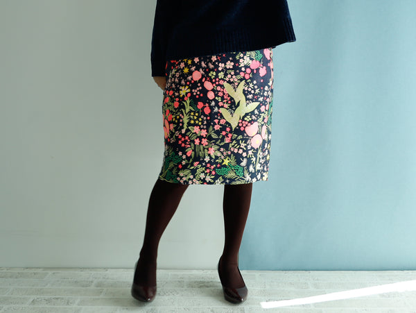 <RS19S30A> CRAZY WOVEN TEXTILE  tight skirt