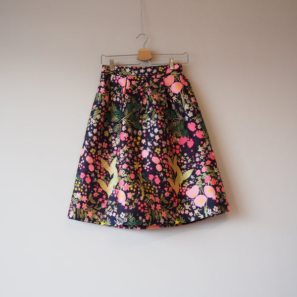 <RS18S18-003> CRAZY PRINT Mini Skirt