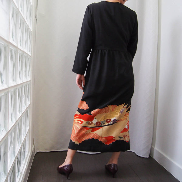 <RS19D14-003> KIMONO WRAPED Dress'n Coat