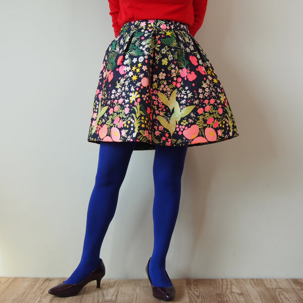 <RS18S18-001> CRAZY PRINT Mini Skirt