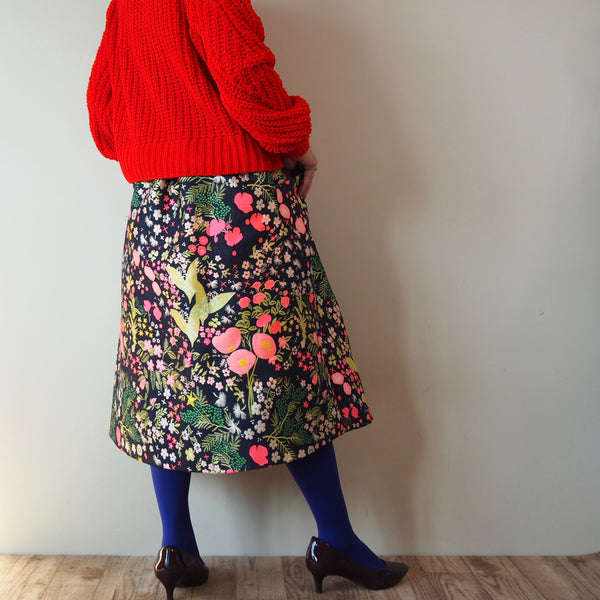 <RS18S17-001> CRAZY PRINT Skirt