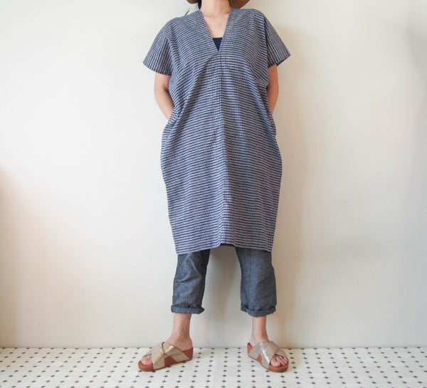 <RS18D13-003> OKINAWA SQUARE Dress