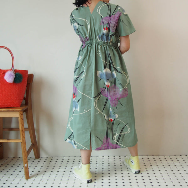 <RS18D12-003>  OKINAWA KAFTAN -Long