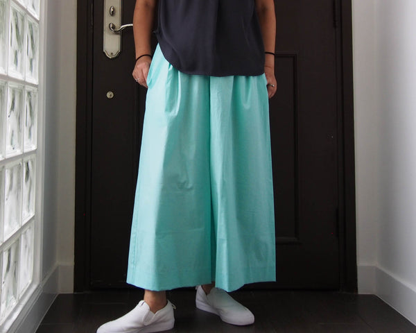 <RS18P09-007> GAUCHO Pants -MINT