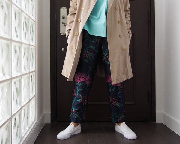 <RS18P10B-002>KABUKI -Tapered Pants GREEN