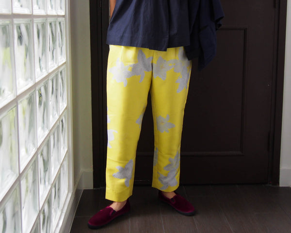 <RS18P10D-001> LEMON YELLOW -Tapered Pants