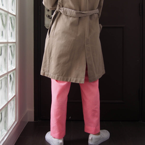 <RS18P10E-001> Tapered Pants -NEON PINK