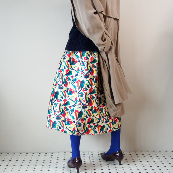 <RS18S22-002> CRAZY PRINT Skirt